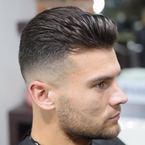 Brushed Up Fringe cu Mid Bald Fade